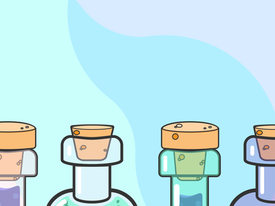 Twitter Banner lab science illustration banner