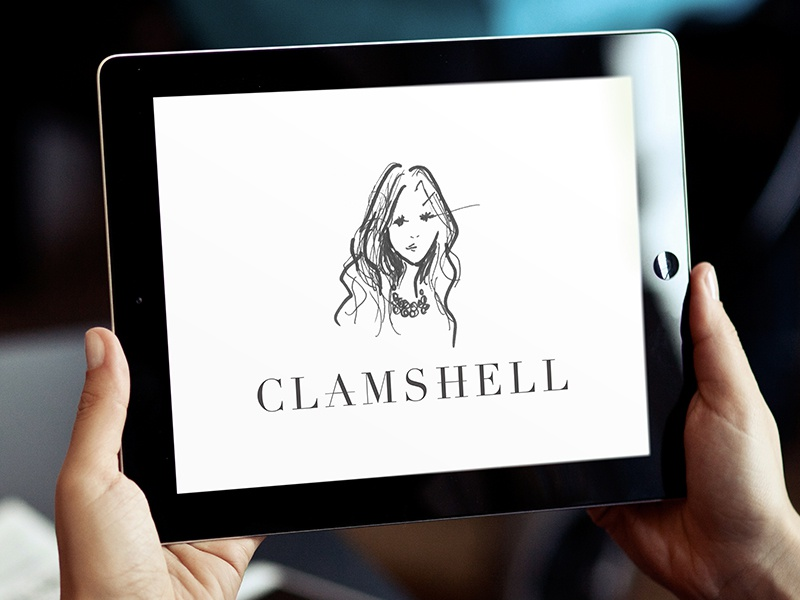The Clamshell logo fashion beyonce blog branding sophisticated