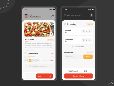 Food Delivery App - Confirm Your Order