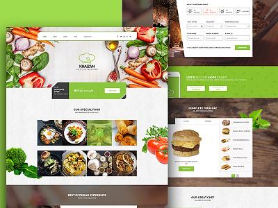 Khaizan greem usabilaty design food animation website resturent
