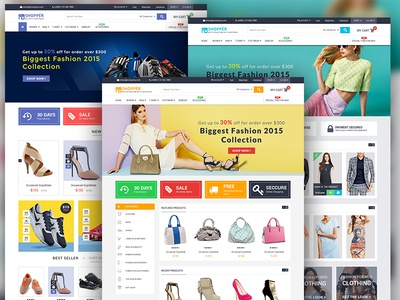 """SHOPPER"" eCommerce web template fashion mall shopping ucd uxd information design communication ecommerce interaction web shopper"