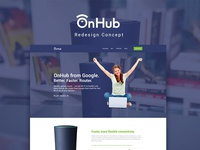 Google OnHub Landing Page Redesign Concept