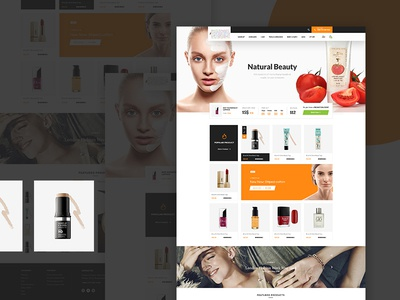 Beauty Shop Design concept page landing cosmetic ecab natural modern information ui ux shop design ecommerce