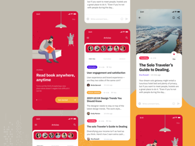 Article App Exploration - Blog Publication Concept