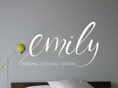 Designer Branding application brand logo branding logotype id mark designer interior designer staging styling hand lettering identity