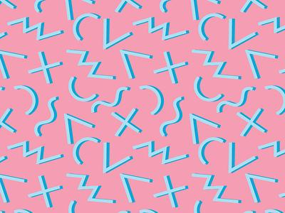 80s Pattern fun illustration graphic geometric pattern 80s