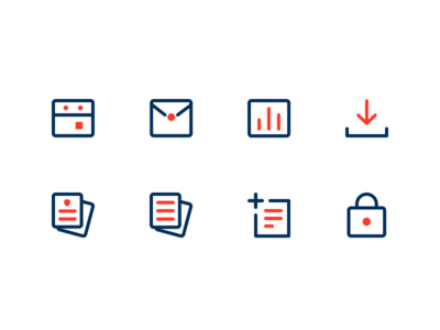 Icons insurance utility business icons