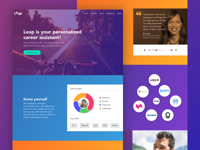 Leap Web layout color growth career landing page ux ui product marketing web