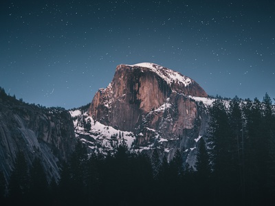 Mountain landscape in the night photography night landscape mountain