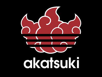 Akatsuki adidas naruto mashup crossover logo adidas originals akatsuki