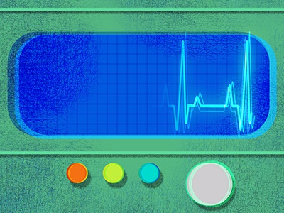 EKG machine medical retro texture ekg color