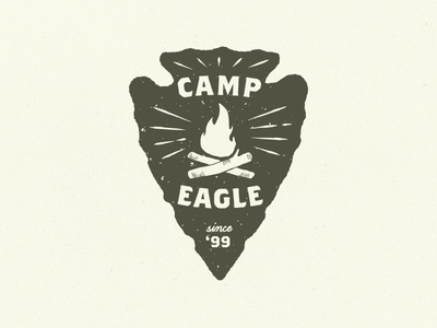 Arrowhead patch camp fire patch arrowhead logo hand drawn fire camp camping outdoors badge
