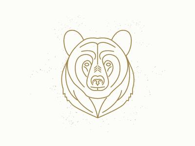 Black Bear line work camp bear illustration mono line
