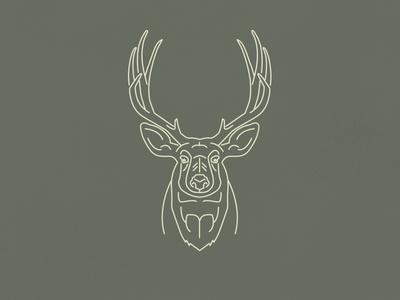 Oh deer...  line work nature outdoors camping wild illustration animal mono line deer