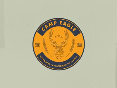 Deer Sticker  ffa vintage badge hunting badge futura mono line deer
