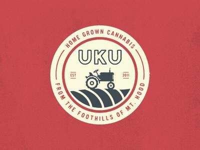 Home Grown Weed vintage farm tractor texture logo weed cannabis branding badge