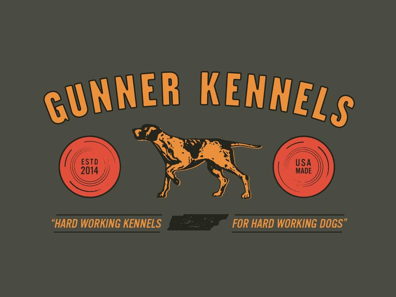 Gun Dogz vintage typography illustration dog hunting