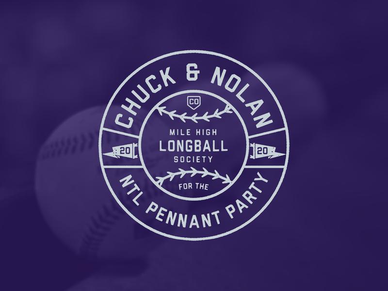 ChuckNado 2020 badge rockies lockup typography logo sports mlb colorado rockies baseball