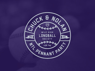 ChuckNado 2020 badge rockies lockup typography logo sports mlb colorado rockies baseball