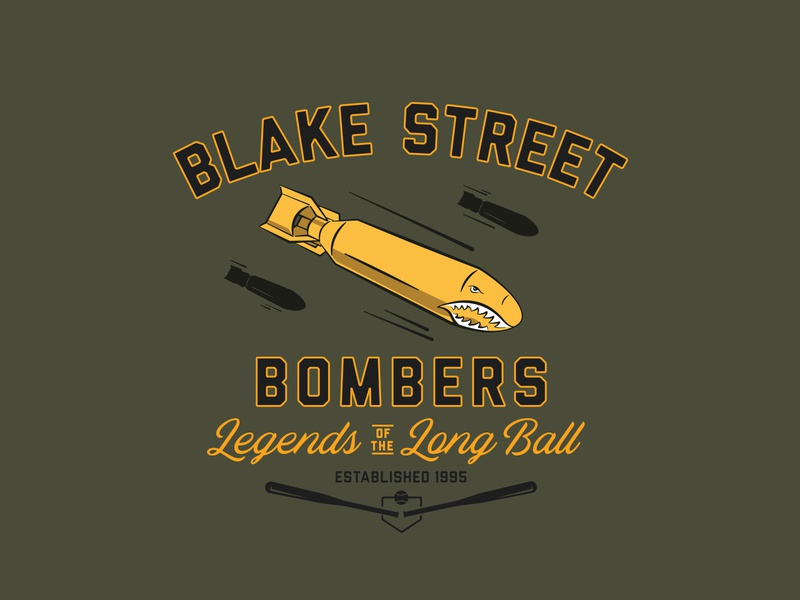 Blake Street Bombers illustration mlb bomb typogaphy badge baseball