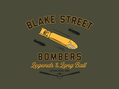 Blake Street Bombers illustration mlb bomb typogaphy badge baseball
