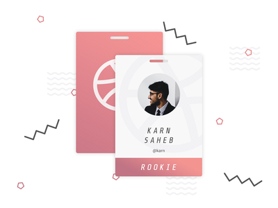 Hello Dribbble! gradient branding vip party badge first shot new player debut invite