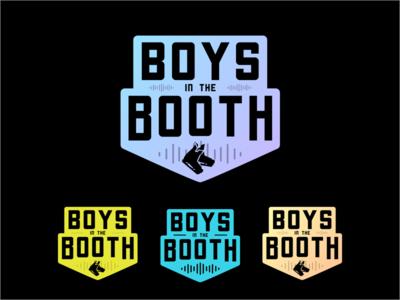 Boys in the Booth hockey logo hockey logo design branding