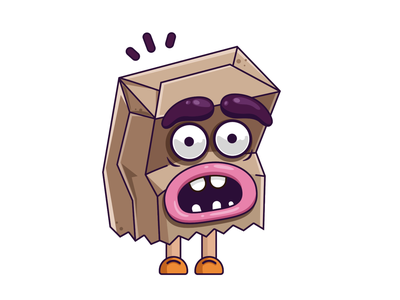 Bag vector illustrations icon design character creation cartoon character cartoon art colorful create characters characters design adventure character art illustration