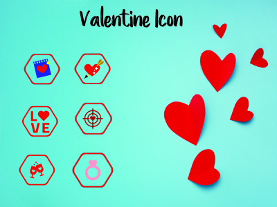 Valentine Icon set sign illustration celebration icon romantic symbol love valentine heart
