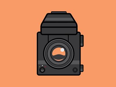 Mamiya 645 illustration medium format camera