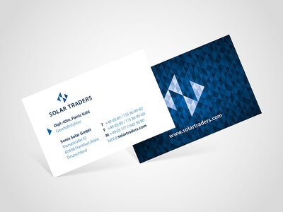 Solar traders business card by michael hartmann dribbble solar traders business card colourmoves Image collections