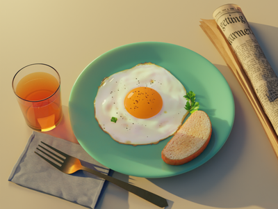 3D eats cgi blendercycles blender 3dillustration 3d art