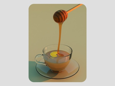 3d lemon tea cgi illustration blendercycles blender 3dillustration 3d art