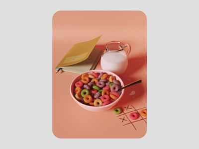 3d cereal illustration 3d render cgi blendercycles blender 3dillustration 3d art