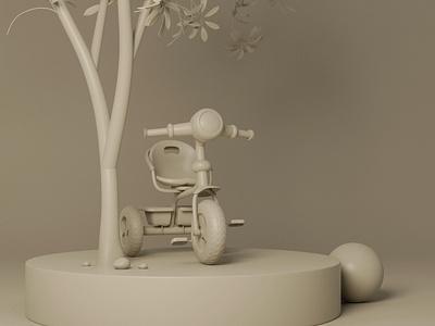 Kiddie ride I 3d artist clay render 3d modeling 3d model illustration 3d render cgi blendercycles blender 3dillustration 3d art