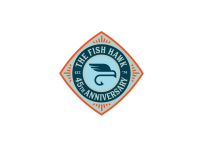 the fish hawk fly shop fish fly fishing hawk branding fresh vector design logo icon packaging illustration typography