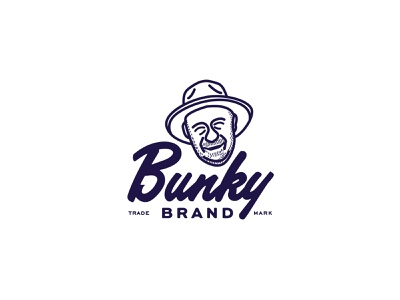 bunky brand apparel company logo branding fresh vector design logo icon packaging illustration typography