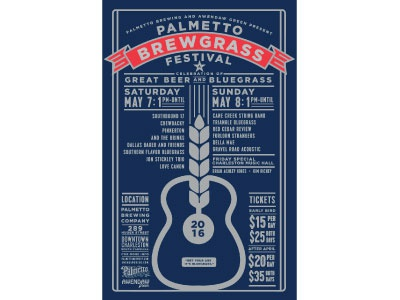 Brewgrass 2016 logo marks typography gig posters t-shirts logos graphic design advertising silkscreen illustration packaging posters icons