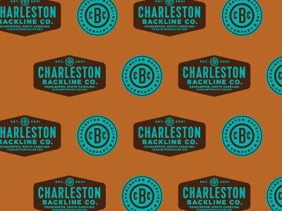 Charleston Backline Company branding retro poster design logo icon packaging illustration typography