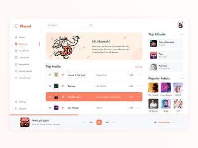 Music Dashboard figma dashboard design music app music dashboad user interface user experience illustration home ui ux studio layo flat design