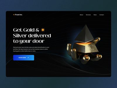 Frost invest company scroll user experience user interface hover dark after effect invest landing motion graphics branding home ui ux studio layo flat design