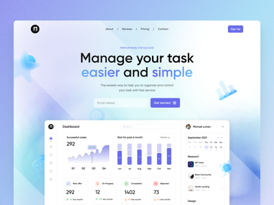 Analytic dashboard landing page 3d noise blur gradient user experience user interface analytic landing page dashboard branding graphic design home ux ui studio layo flat design