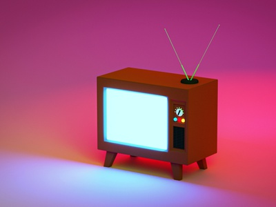 Tv illustration design rendering modelling advertisement 3d tv show tv