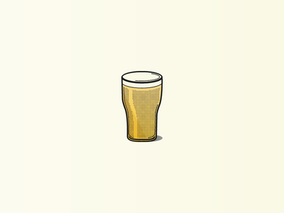 The Perfect Pint illustration vector golden pale ipa ale 22oz brew icon pint glass beer