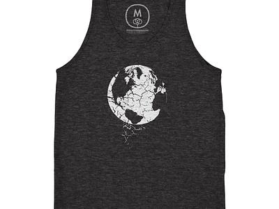 Erosion cotton bureau tank top tri-blend world crumble erosion earth tshirt shirt