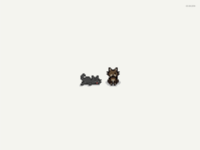 Beans and Toast pixel cats cat