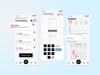 Workout Tracker App- Design Prompt workout app workout tracker ux ui app design design