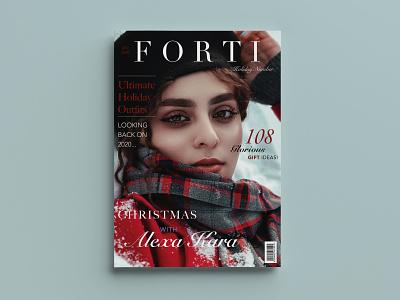 Magazine cover photography christmas magazine design magazine cover fashion cover fashion design cover art cover design design