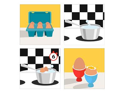 Egg cartoon cartoon illustration illustration art animation food illustration boiled egg egg