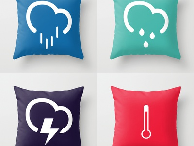 Better Weather Pillows home pillows weather icons better weather